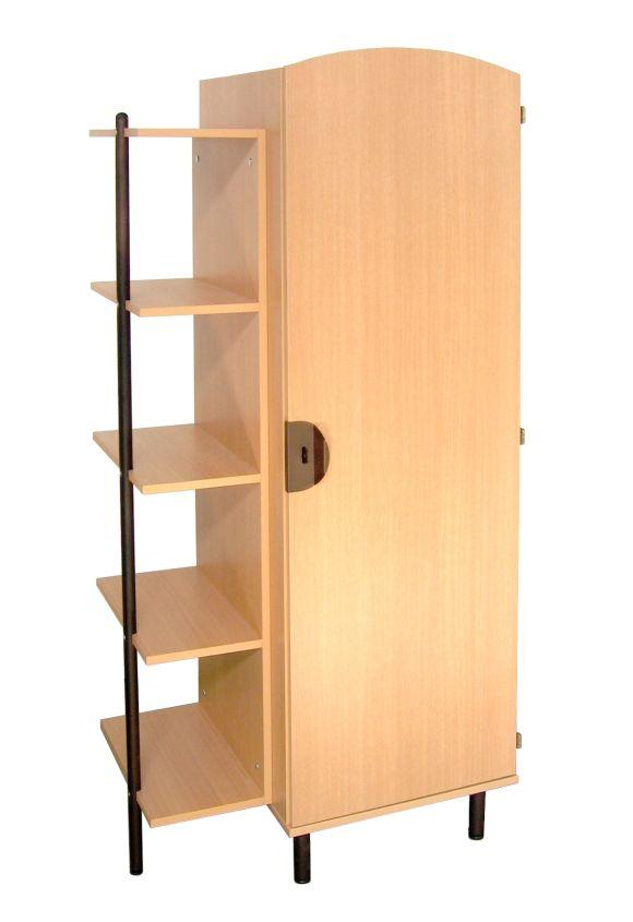 armoire alba 1 porte mobilier hebergement rodet. Black Bedroom Furniture Sets. Home Design Ideas