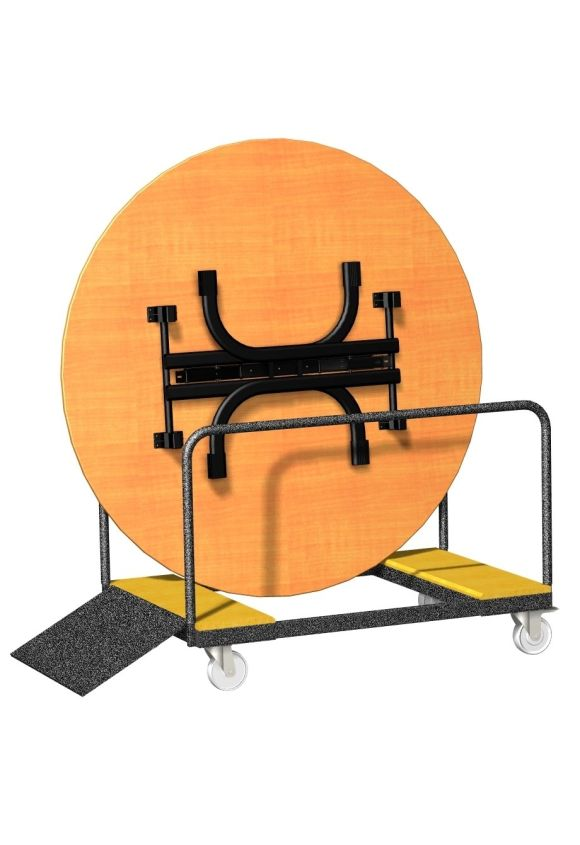 CHARIOT TABLES PLIANTES RONDES